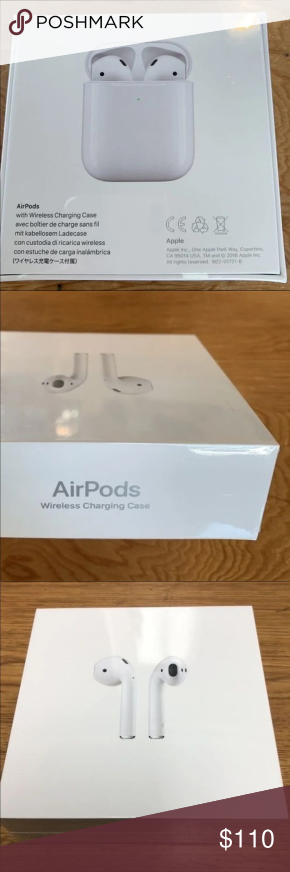 Apple Airpods 2 W Wireless Charge Case Airpods 2nd Generation