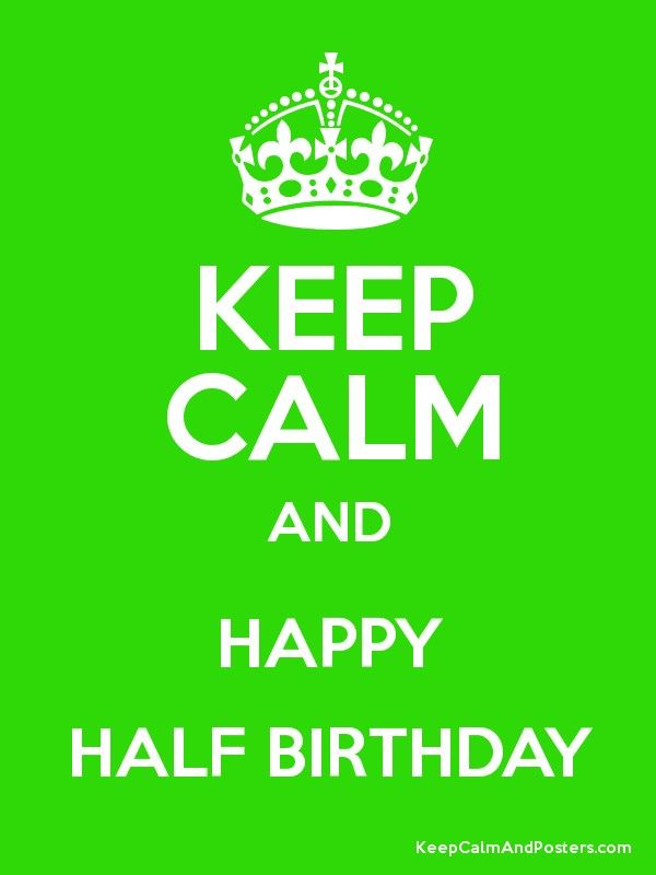 greeting cards ratchet keep calm and happy half birthday
