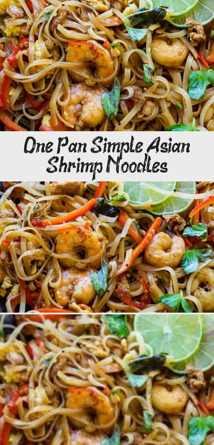 One Pan Simple Asian Shrimp Noodles Seafood Recipes Mediterranean Seafood Recipe Shrimp Noodles
