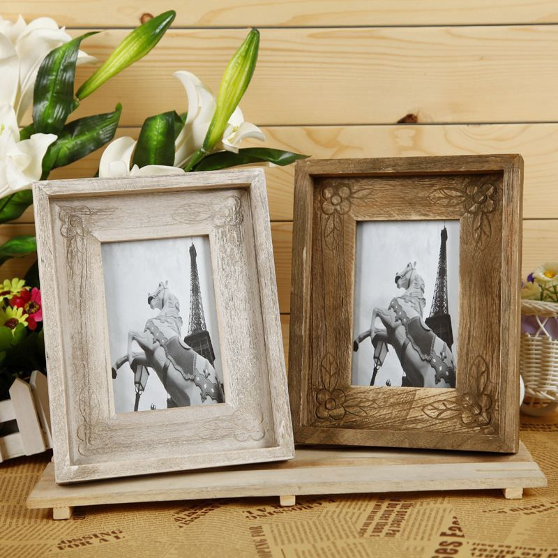 ZAKKA Retro Wood Frame Wooden Picture Frame Plastic Timber Wood Frame Photo  Wall Home Decoration,