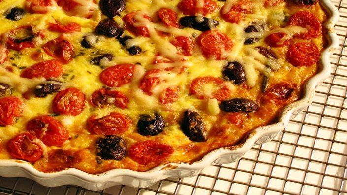 Tomato olive and rosemary crustless quiche recipe quiches look at this recipe tomato olive and rosemary crustless quiche from food network forumfinder Choice Image