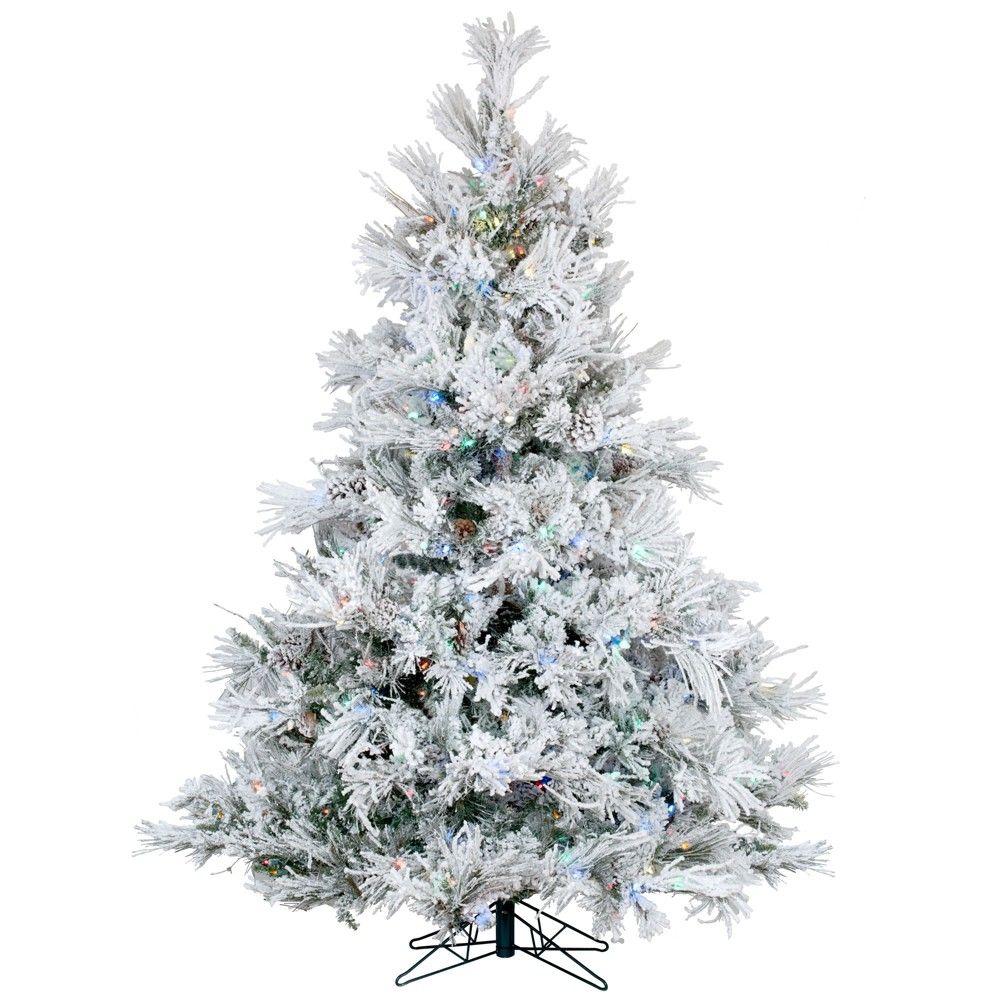 Vickerman 6 Ft Kodiak Spruce Slim Flocked Artificial Christmas Tree Lowes Com Slim Artificial Christmas Trees Flocked Christmas Trees Pre Lit Christmas Tree