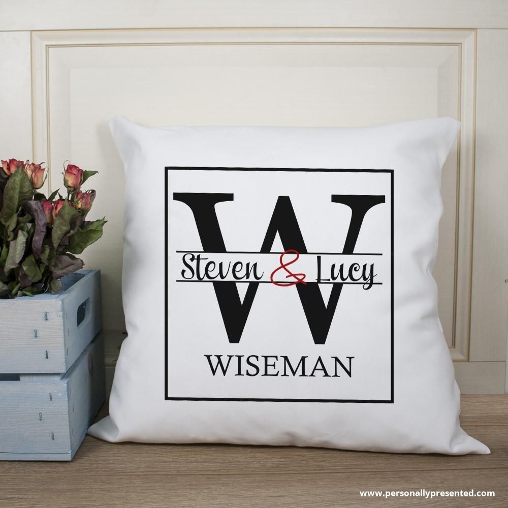 Couple Monogram Cushion Cover Products