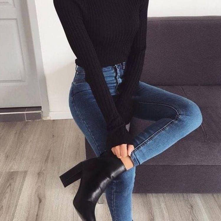10 outfits elegantes con jeans perfectos para ir a trabajar