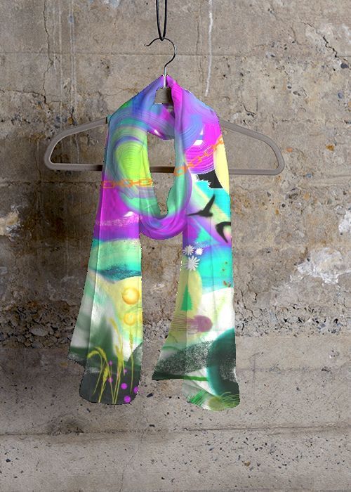 Cashmere Silk Scarf - Periwinkle by VIDA VIDA 48wlJW