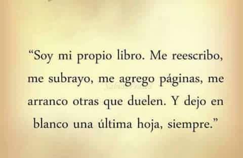 Soy mi propio libro...