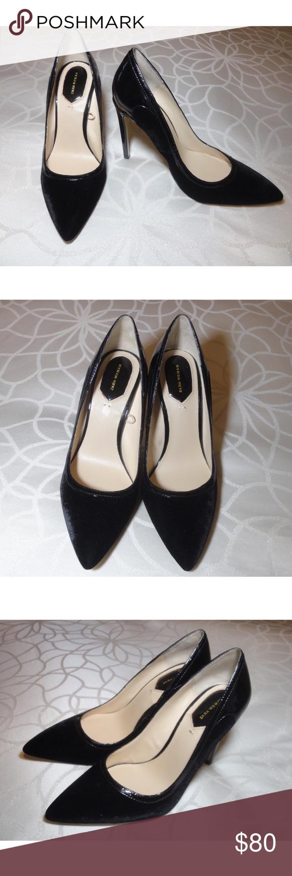 1412db46724 NWOT Zara Velvet Heels Beautiful Zara velvet heels. Brand new