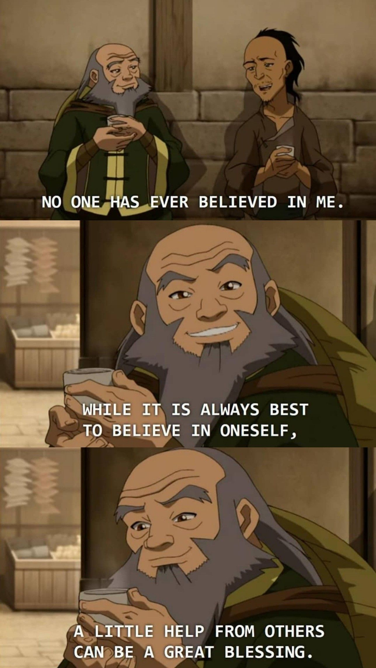 Here S A Quick Iroh Quote For Anyone Who May Need It Avatar Funny Avatar Airbender Avatar The Last Airbender Funny