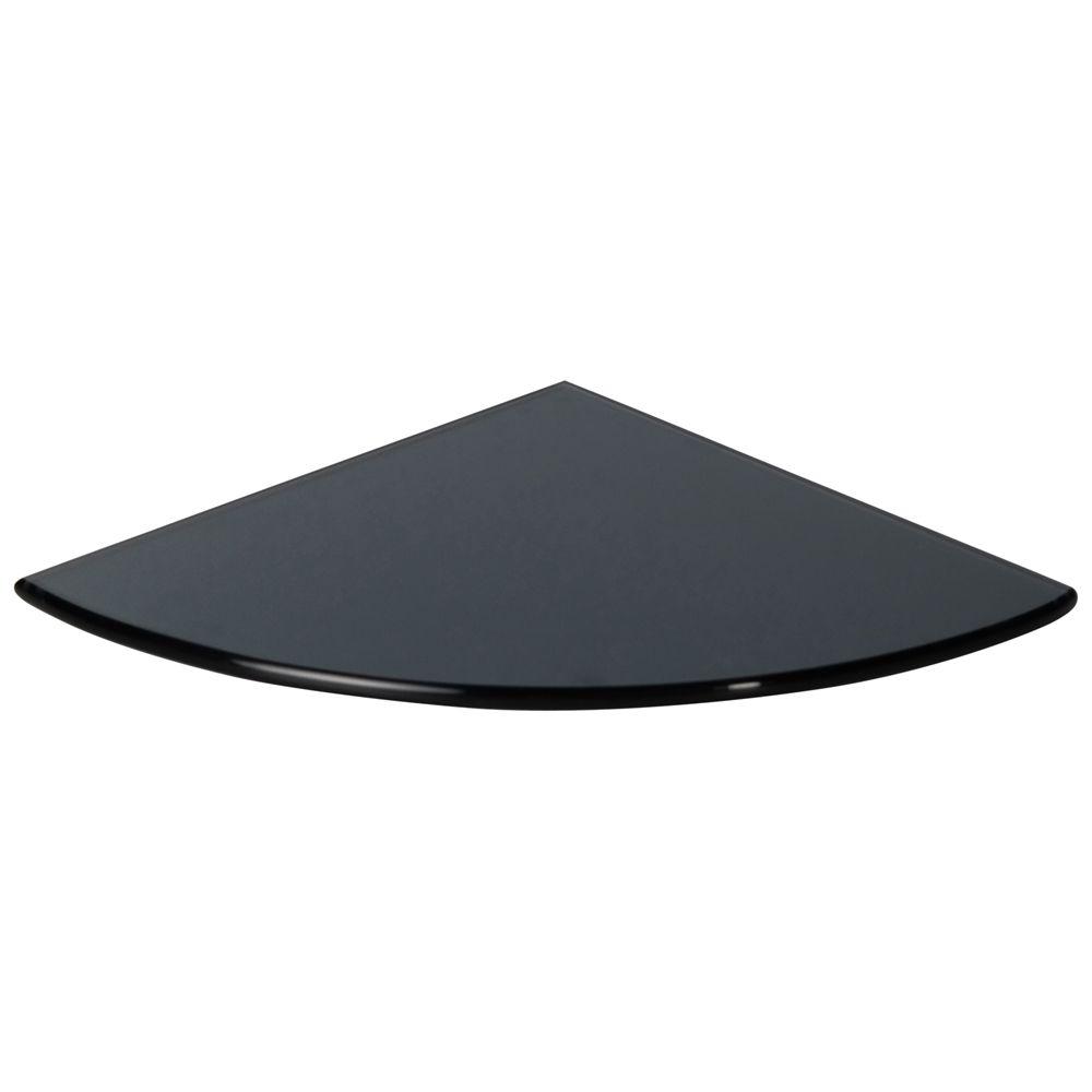 Black Tempered Glass Bathroom Caddy Corner Shelf Glass Bathroom