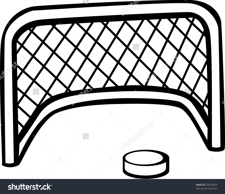 Hockey Puck Goal Net Stock Illustration 50074624 Shutterstock Hockey Puck Goal Net Hockey