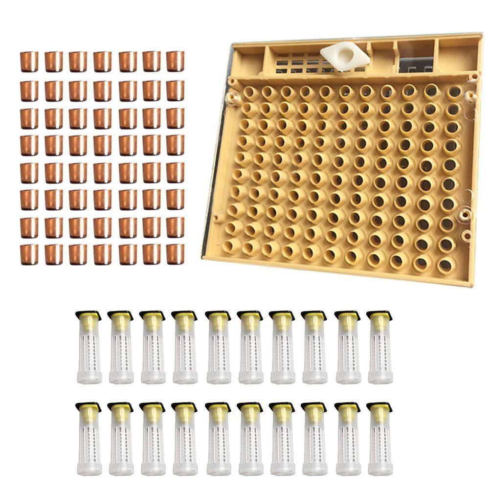155 PCS Beekeeping Rearing Cup Kit Queen Bee Cages Beekeeper Equipment Tools