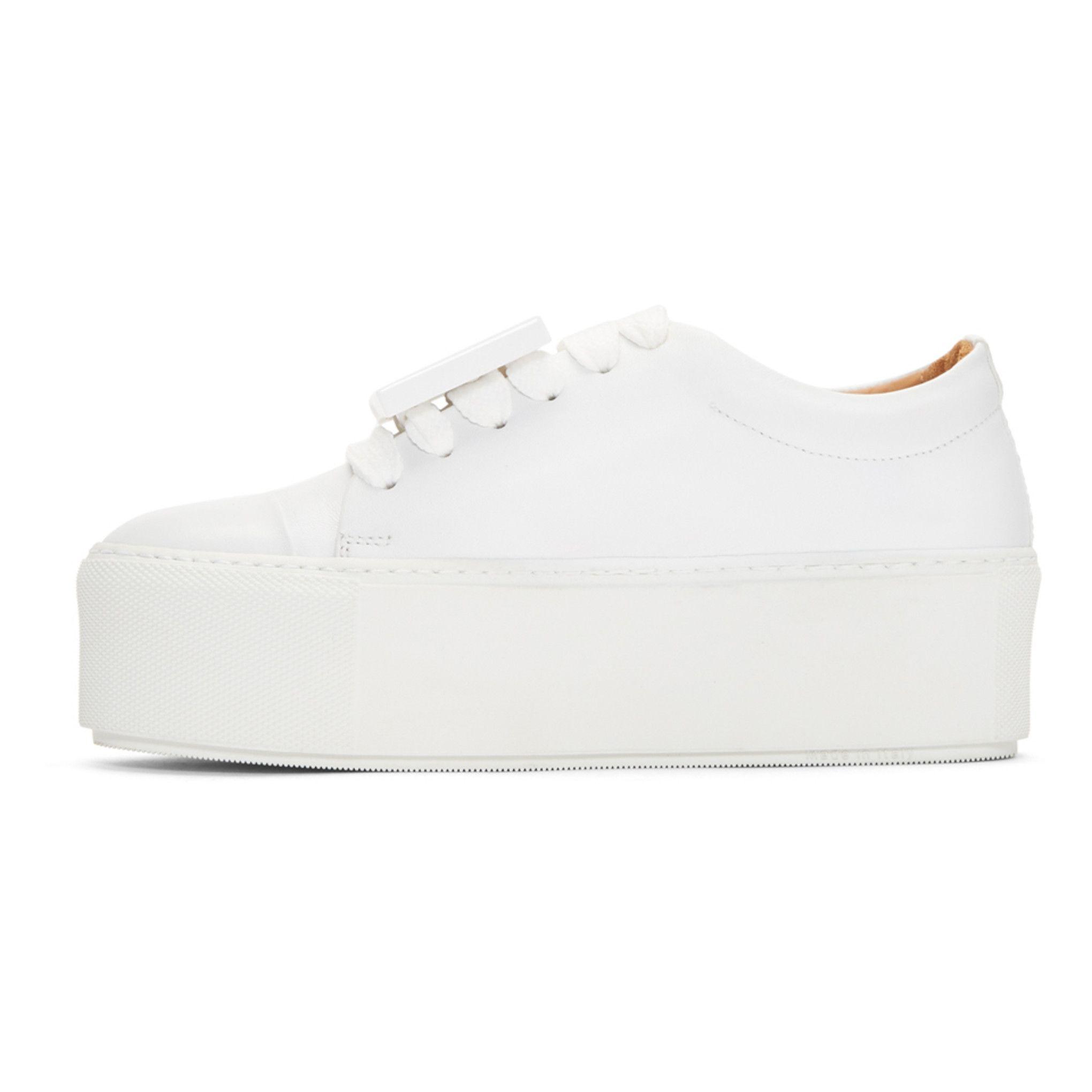 White Drihanna Platform Sneakers Acne Studios cKT6t1Q