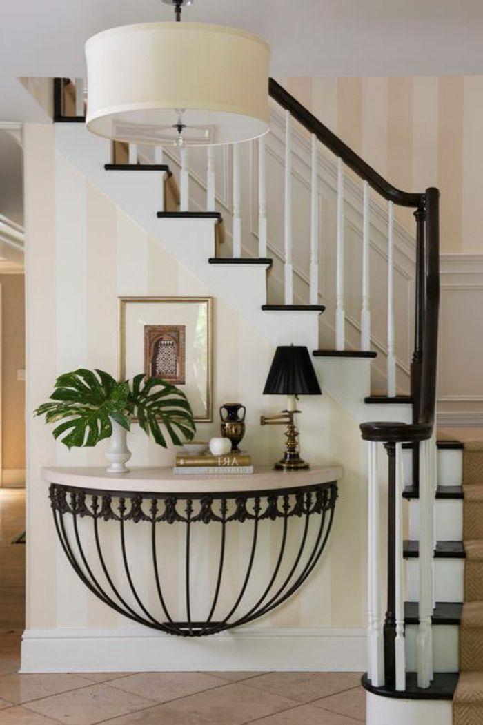 50 bilder und ideen f r treppenaufgang gestalten streifen tapete streifen und tapeten. Black Bedroom Furniture Sets. Home Design Ideas