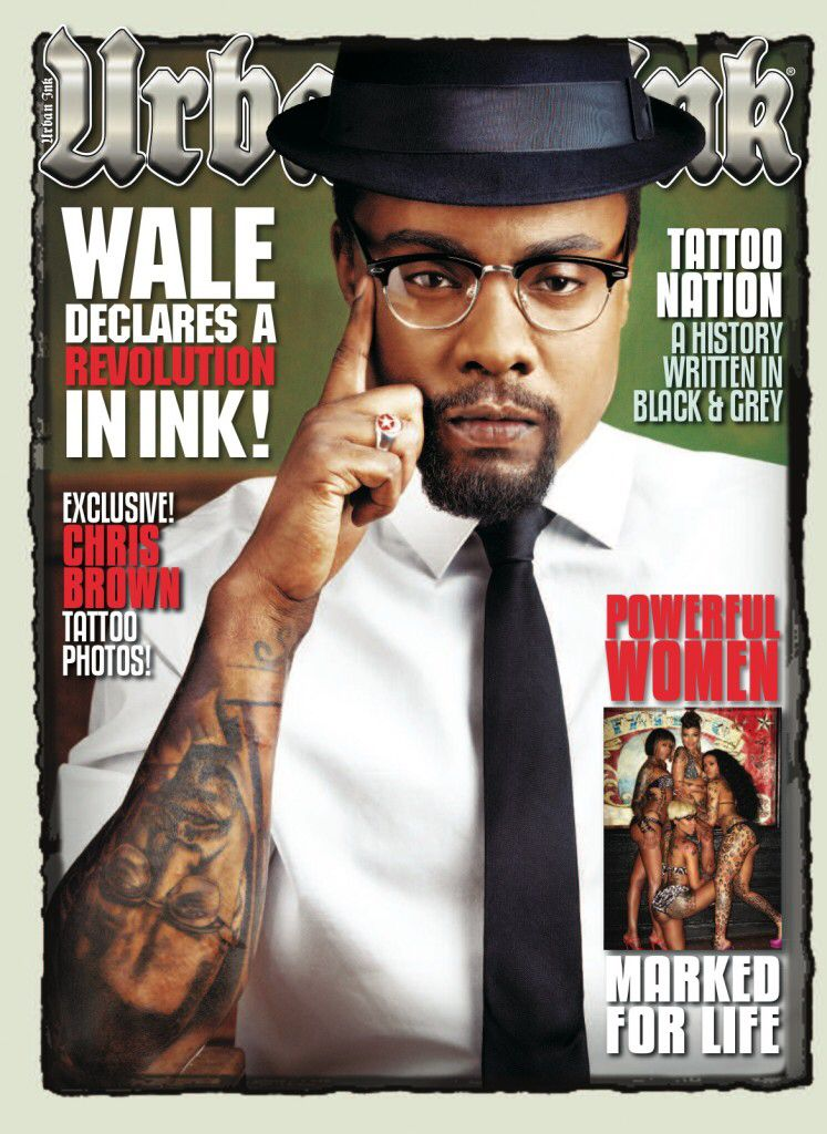 Nikko Hurtado's artistry can be seen on Wale's arm. He has