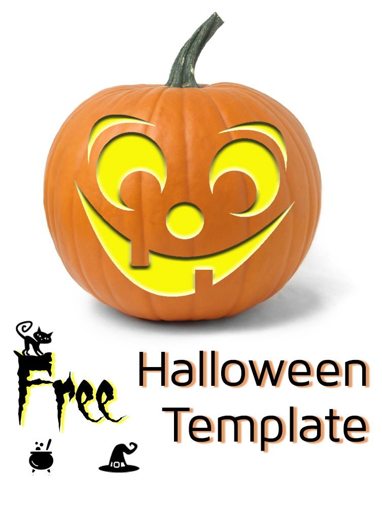 Big grin halloween template more than 50 of these free for Big pumpkin carving patterns