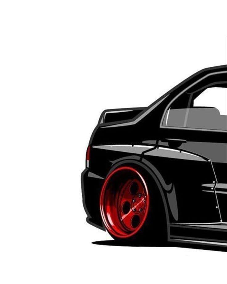 Car Wallpaper Art Super Sport Lovecars Lit Back Rimz Red Black Followformore Car Art Automotive Art Car Painting