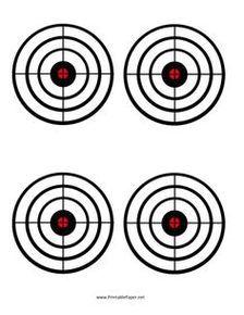 Printable bullseye shooting targets clipart free to use for Bullseye template printable