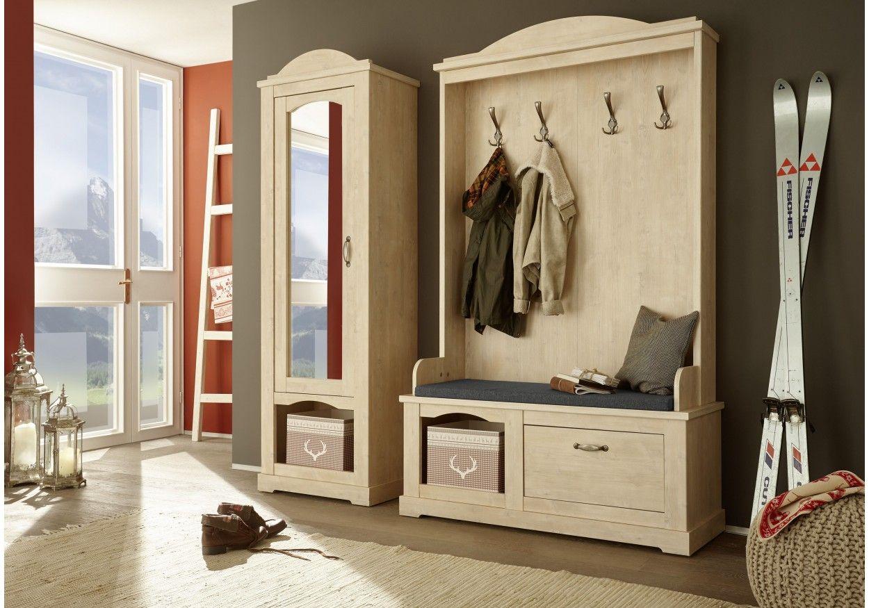 Garderobe Mit Garderobenpaneel Sitzbank Und