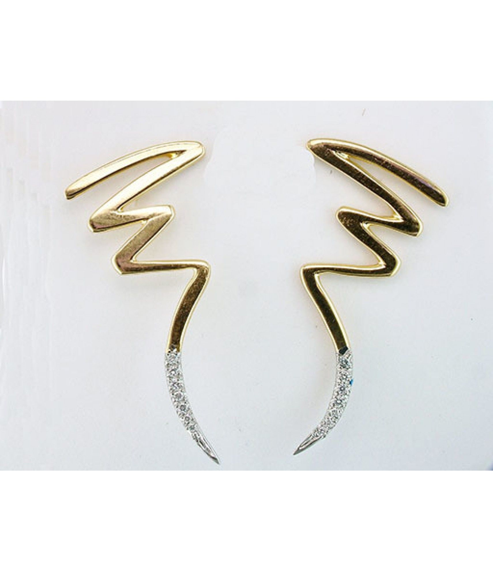 Tiffany and Co Paloma Picasso Diamond Scribble Earrings