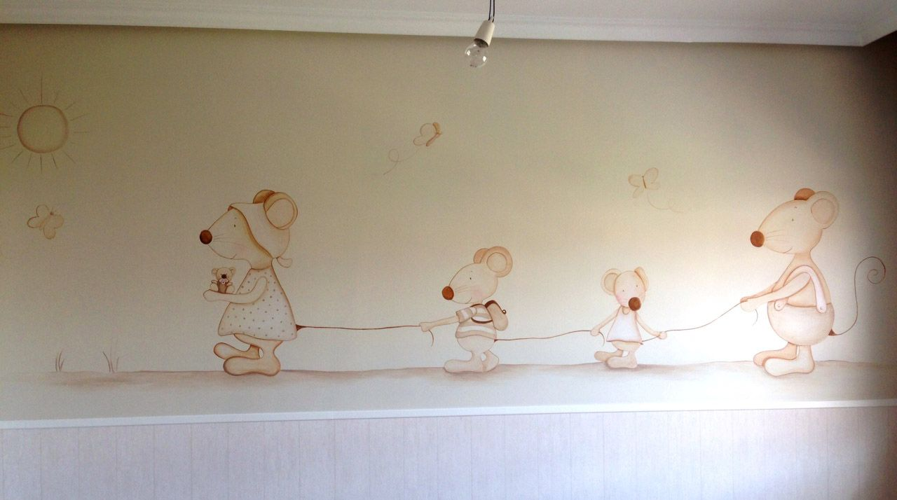 Murales para cuartos de bebes buscar con google - Decorar habitacion bebe nino ...