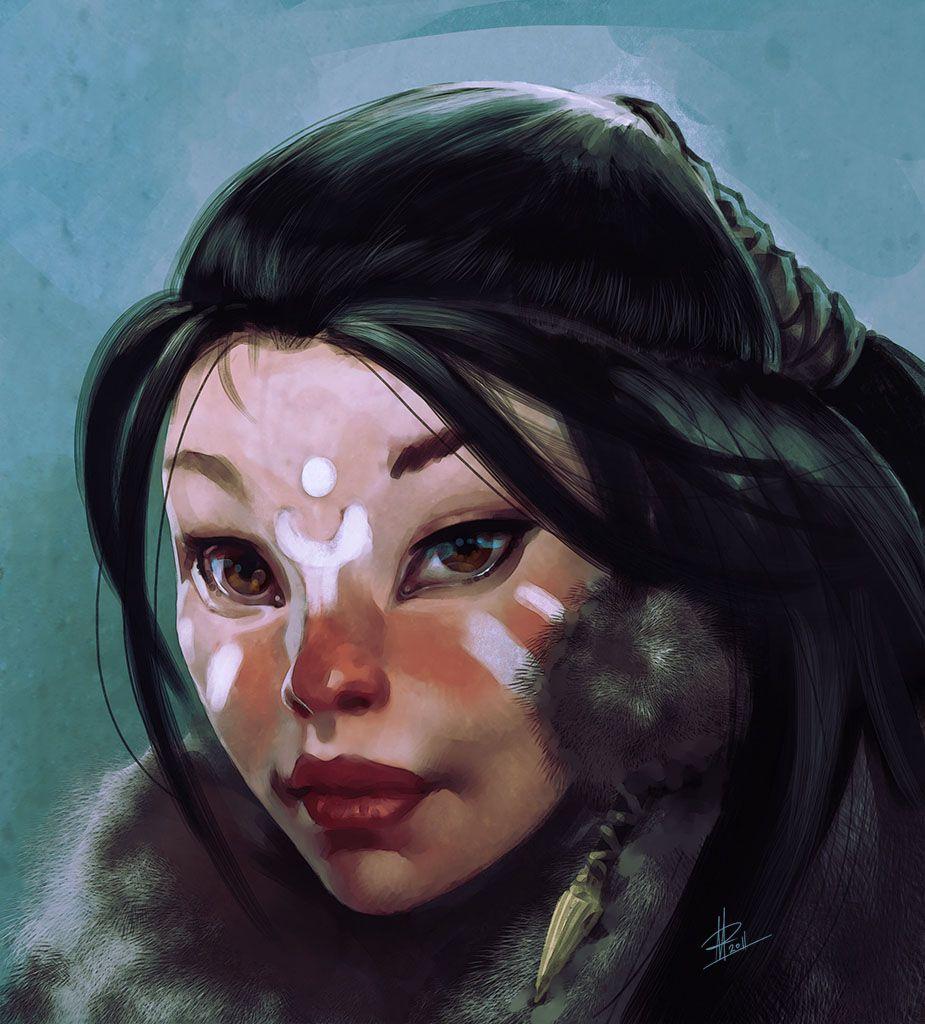Innuit girl by I-GUYJIN-I on DeviantArt