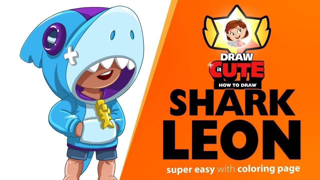How To Draw Shark Leon Brawl Stars Brawlstars Brawl