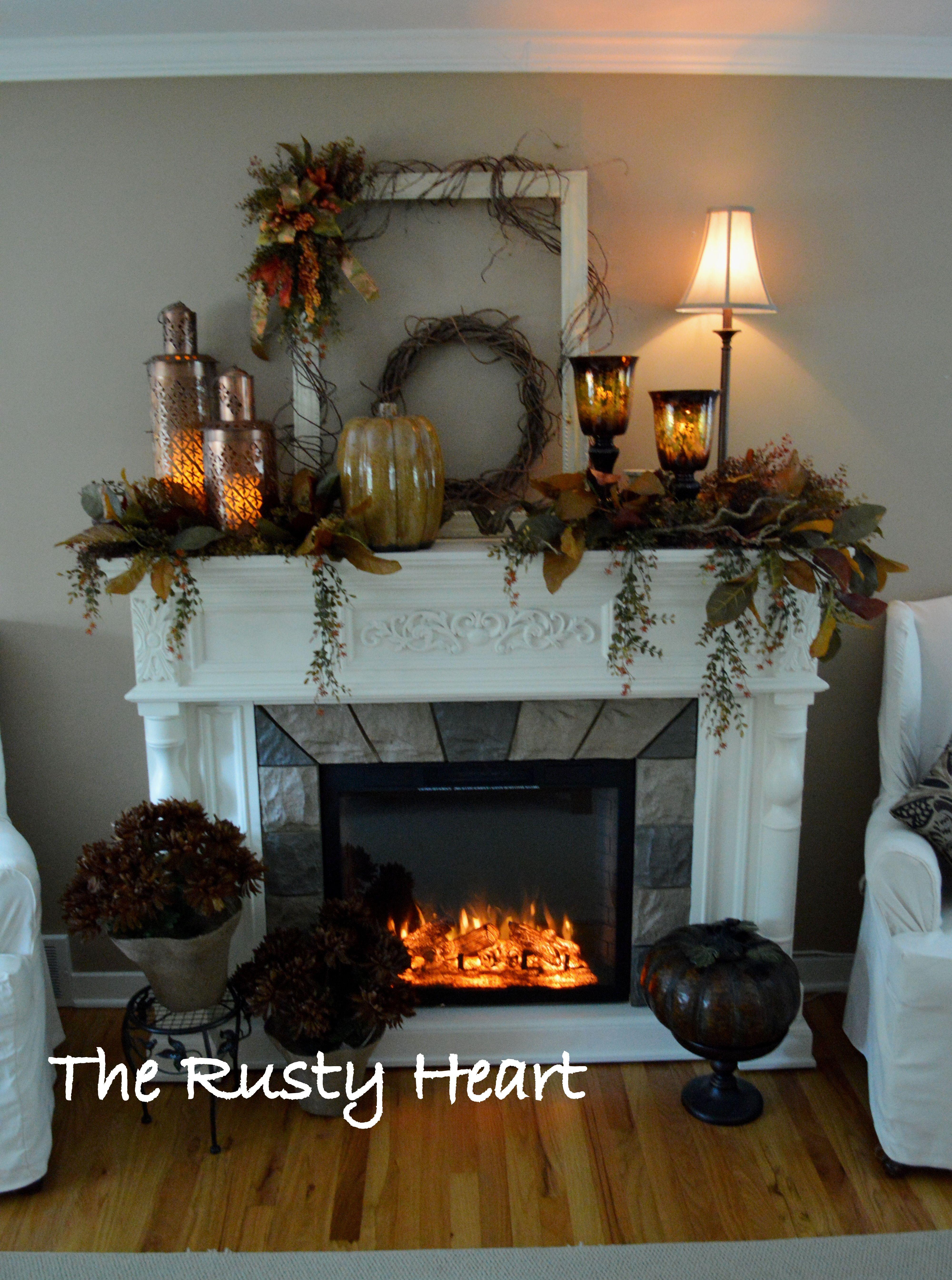 Fall Fireplace Mantel Decorating Ideas: Fall Fireplace, Fall