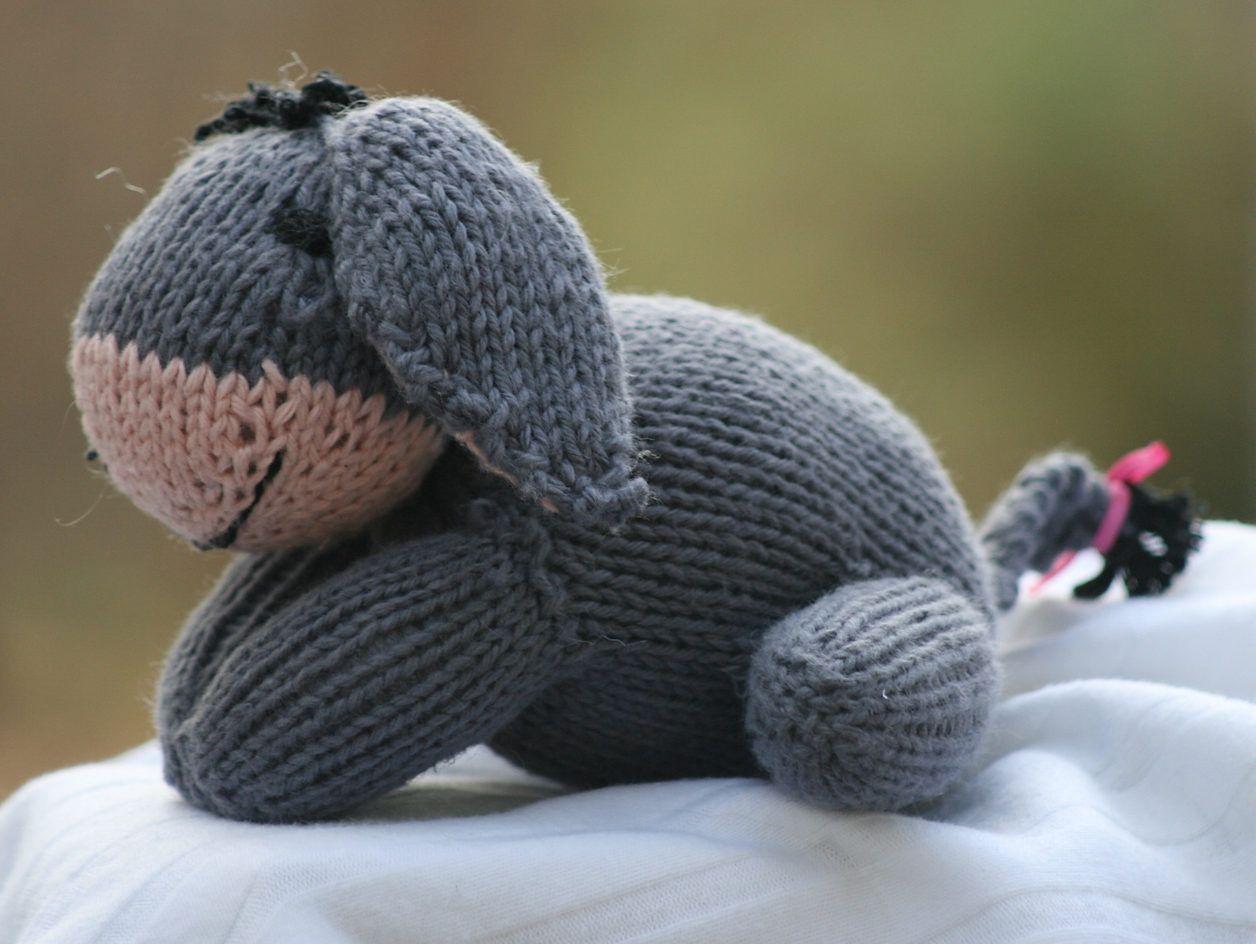 Free Knitting Pattern for Eeyore Toy | Crochet & Knitting ...