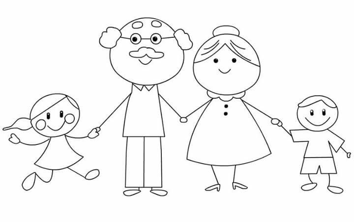Pin By Kardelen On Dzien Mamy Grandparents Day Crafts Art Drawings For Kids Family Coloring Pages