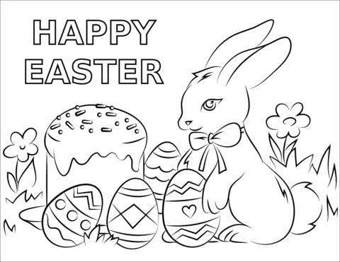 33 Happy Easter Coloring Pages Free Printable Pictures For Kids Happy Easter 2020 Easter Coloring Pages Cool Coloring Pages Free Easter Coloring Pages
