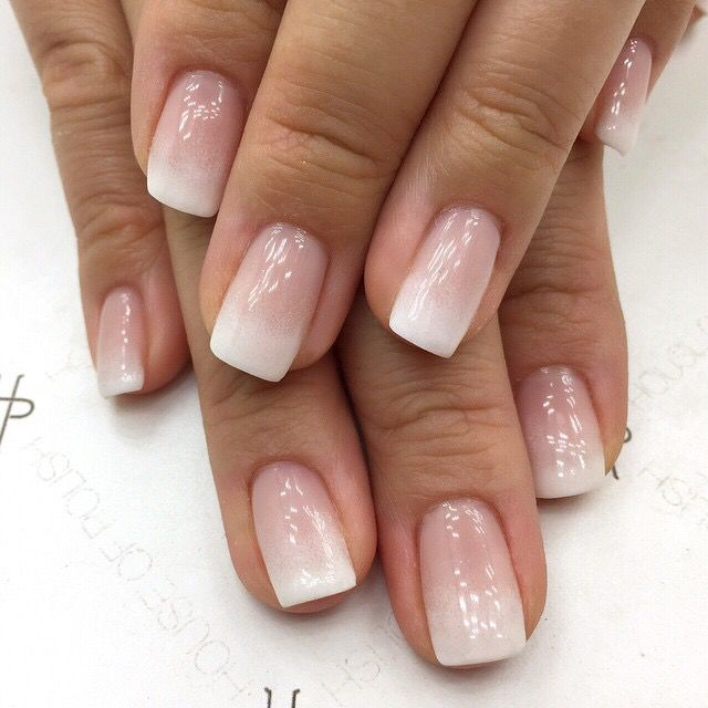 Ombre French Ombre Acrylic Nails Ombre Nail Designs French Tip Nails