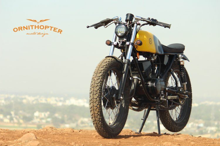 Modified Yamaha Rx100 By Ornithopter Is A Scrambler Cafe Racer