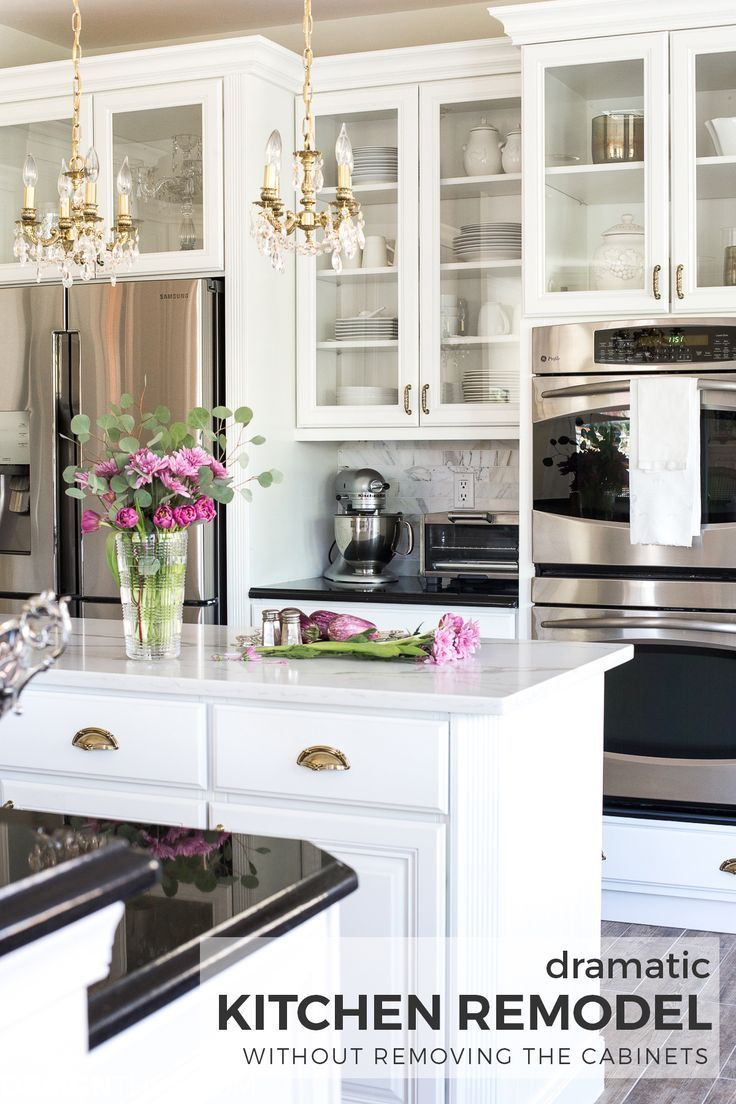 Kitchen make overs  Dramatic Kitchen Renovation without Removing Cabinets  Blogger Home
