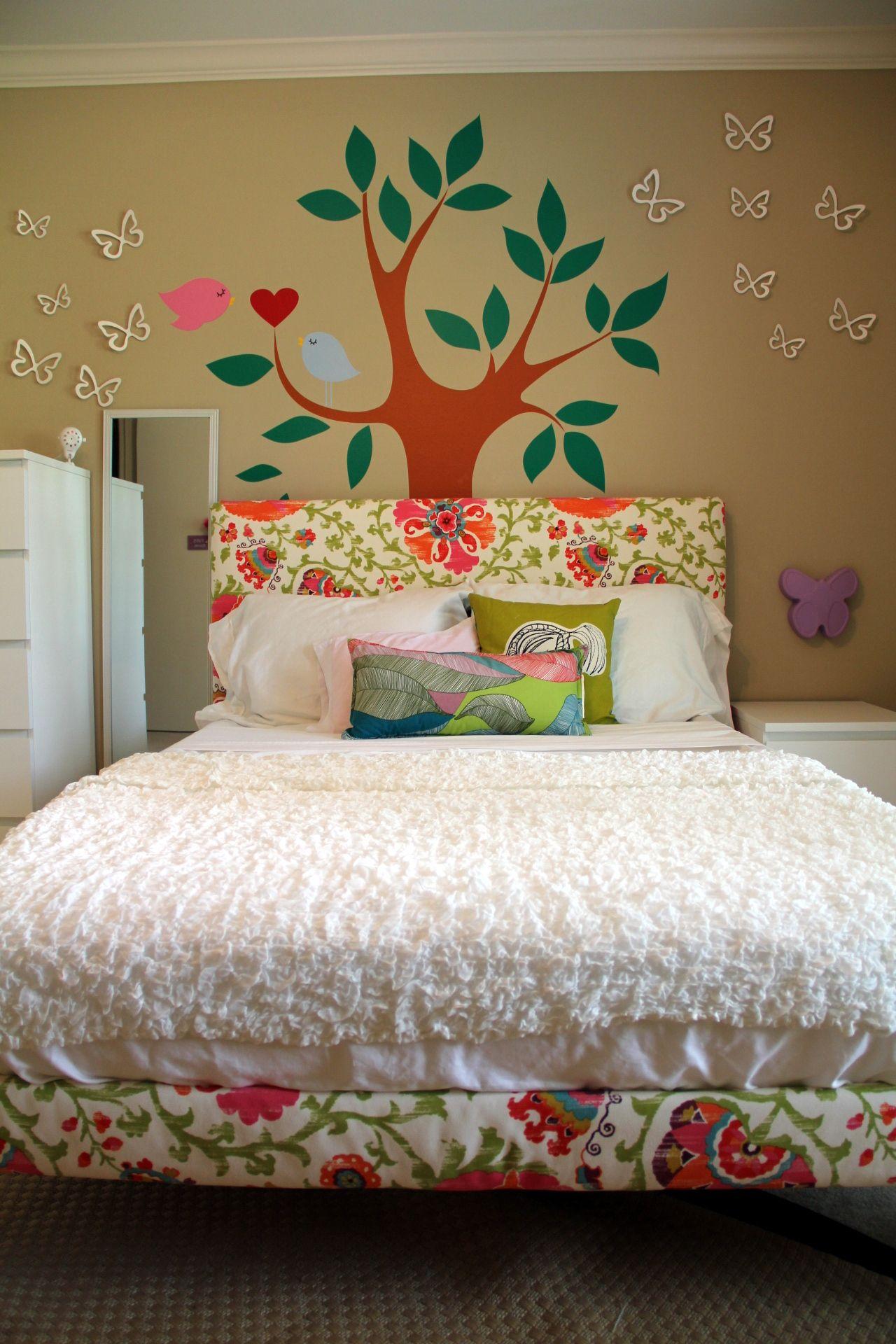 Diy Upholstered Headboard For Girl S Room Girls Headboard Kid