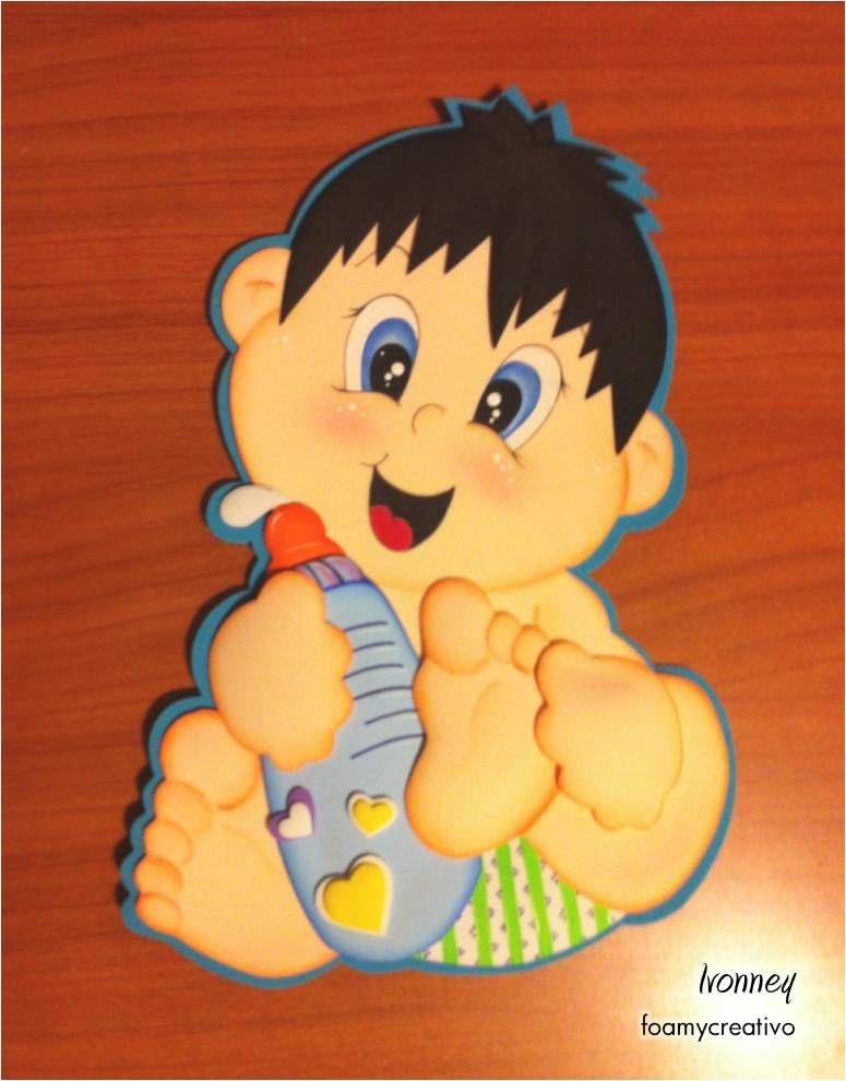 Cartel bebe niño en foami, foamycreativo | manualidades ...