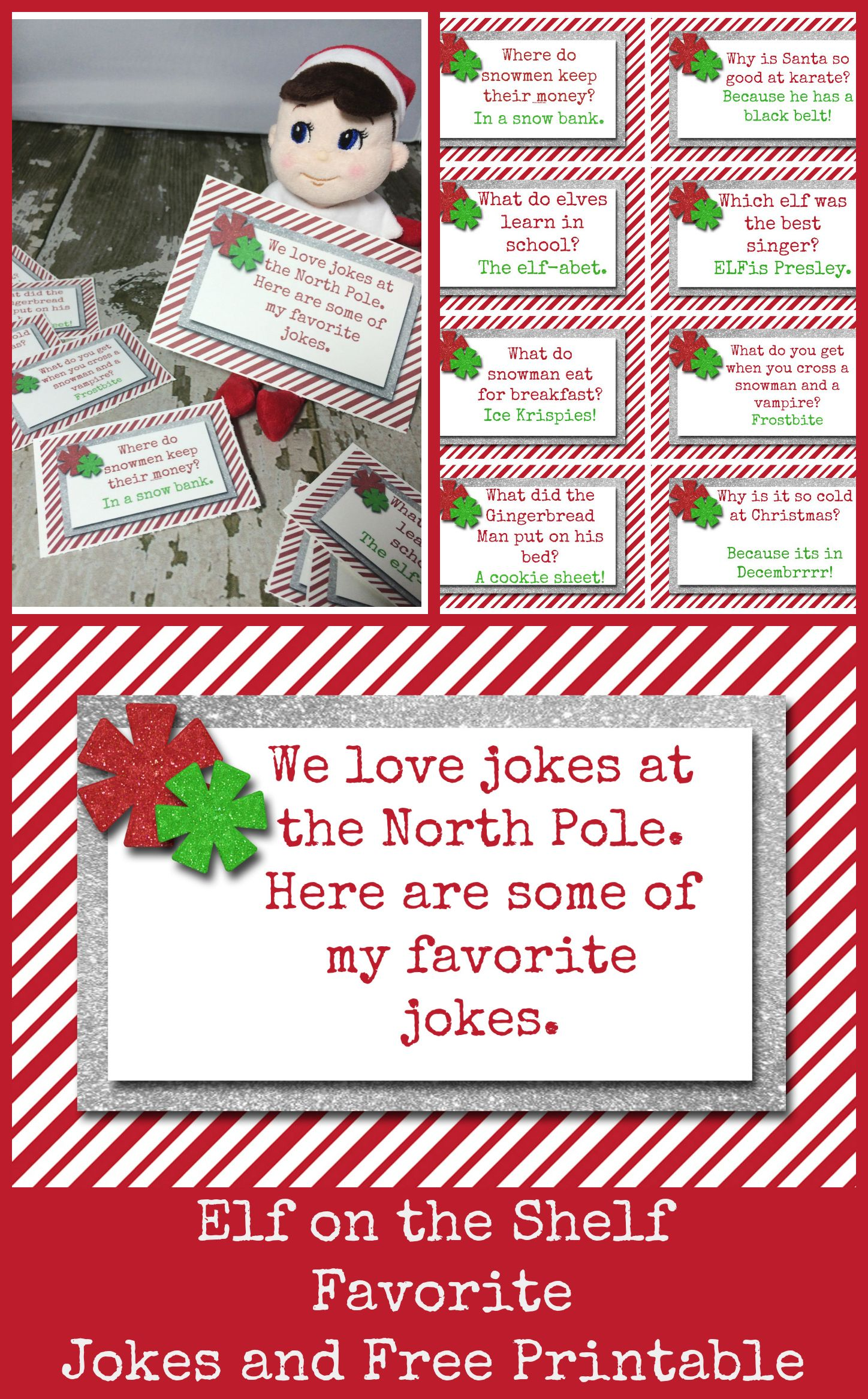 Elf On The Shelf Favorite Jokes With Free Printable