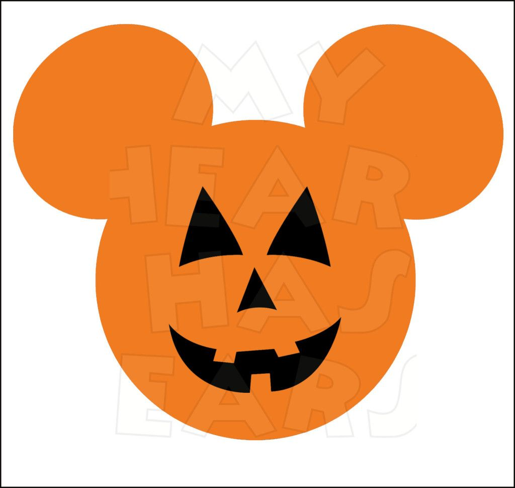 Mickey Mouse Pumpkin Jack O Lantern INSTANT DOWNLOAD Halloween ...