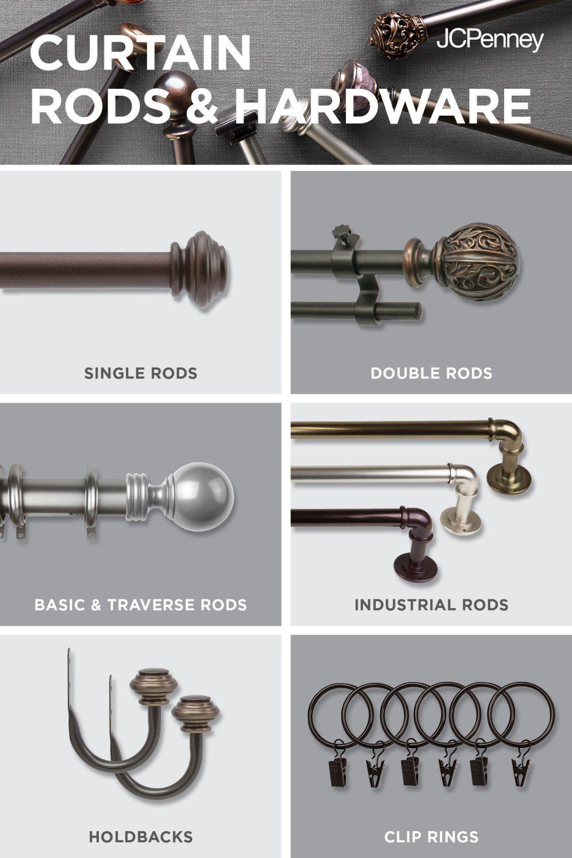 curtain rods hardware