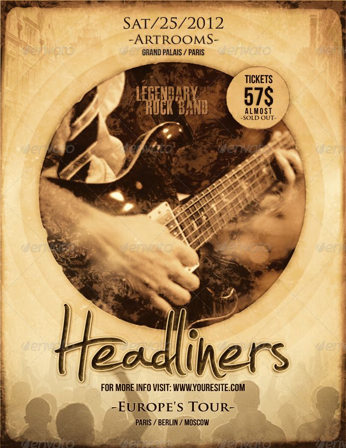21+ Free Band Flyer PSD Design Templates Flyer template, Font - band flyer template