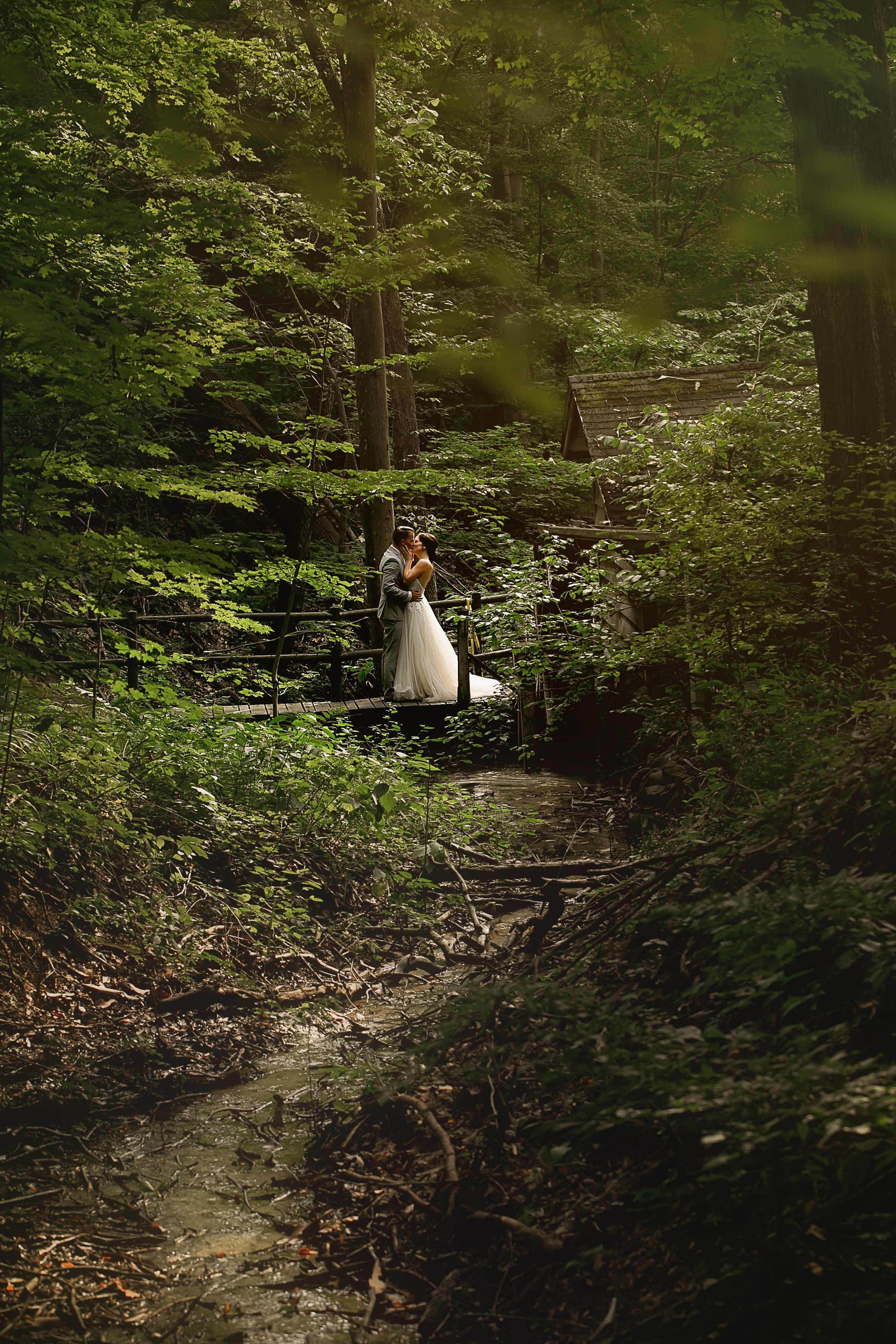Our couples love this private bridge for a romantic photo-op ...