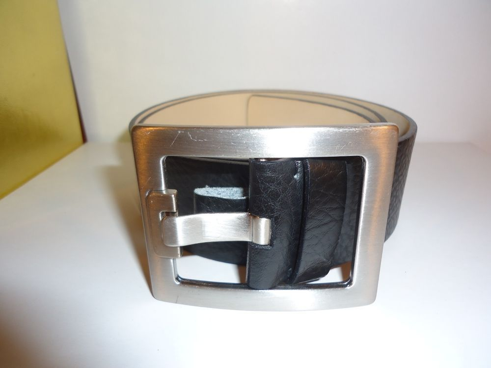 Men's Banana Republic Black Genuine Leather Belt Size S Made in Italy #772622 #BananaRepublic