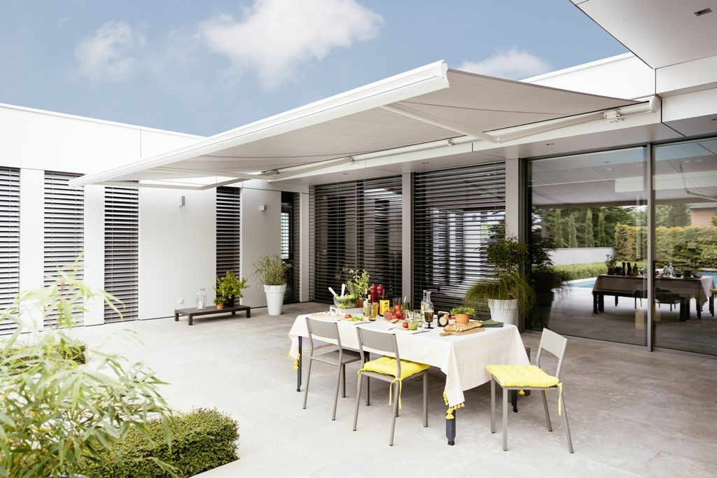 Motorize Your Retractable Awning And Automate Your Home With Somfy Outdoor Awnings Pergola Outdoor Living Retractable Awning