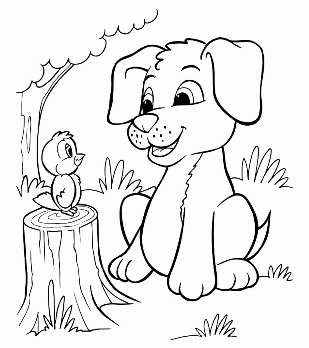 Cute Cartoon Animals Coloring Pages Elegant Dog Coloring Pages Printable Beautiful Animal Colorin In 2020 Puppy Coloring Pages Dog Coloring Page Cartoon Coloring Pages