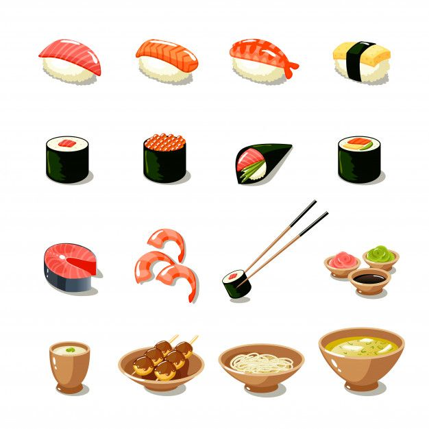 Download Asia Food Icon Set for free
