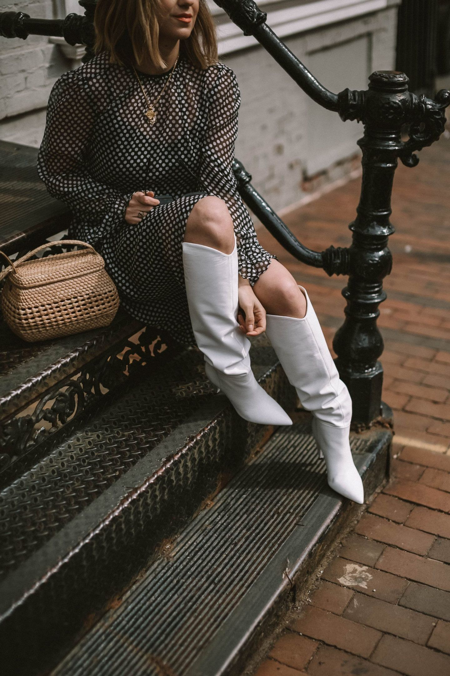 Marc fisher boots, White boots outfit