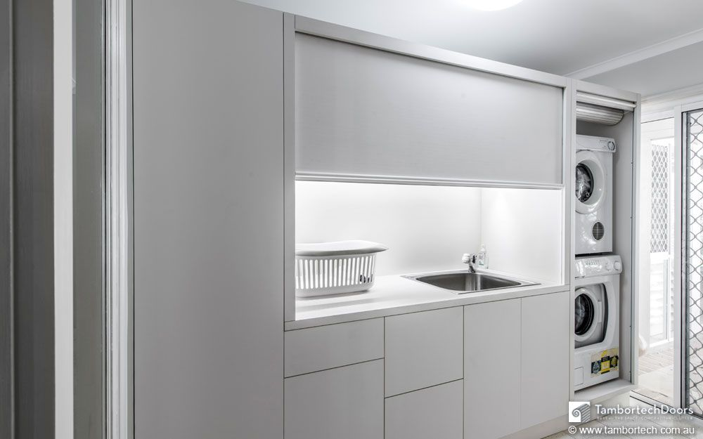 Rolling Doors For Laundry Room The Modern Laundry