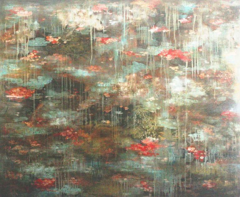 "Saatchi Art Artist Henrie Haldane; Painting, ""WATER LILIES"" #art"