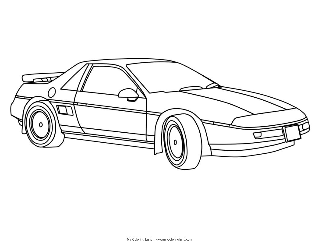 Sports Cars Coloring Pages 1056x816