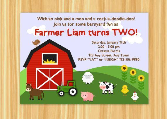 farm birthday party invitations