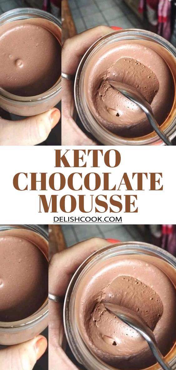 Photo of KETO CHOCOLATE MOUSSE